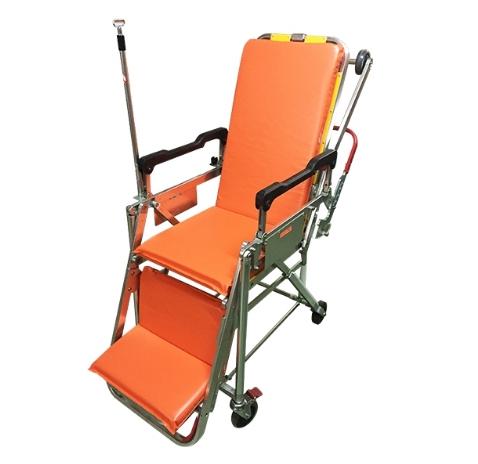 รถเข็นผู้ป่วยรถพยาบาลปรับนอน-นั่งได้ มีเสาน้ำเกลือ