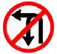 ป้ายห้ามเลี้ยวซ้ายหรือกลับรถ (บ.13)