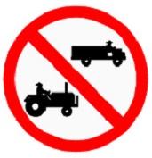 ป้ายห้ามรถยนต์ที่ใช้ในการเกษตร (บ.22)