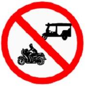 ป้ายห้ามรถจักรยานยนต์ และรถยนต์สามล้อ (บ.26)