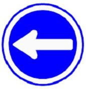 ป้ายรถเดินทางเดียวไปทางซ้าย (บ.38)