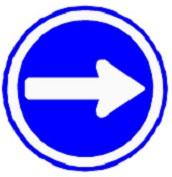 ป้ายรถเดินทางเดียวไปทางขวา (บ.39)