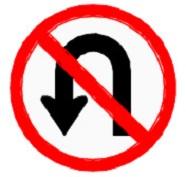 ป้ายห้ามกลับรถไปทางซ้าย (บ.7)