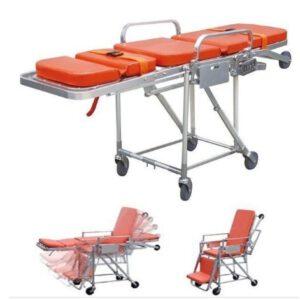 รถเข็นผู้ป่วยสำหรับรถพยาบาลปรับนอนนั่งได้