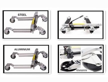 อุปกรณ์เคลื่อนย้ายรถ GoJack – 1 ชุด 4 ตัว พร้อมขาตั้งรุ่น Roller อลูมิเนียม